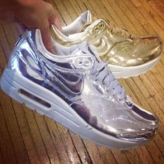 They're here! The Air Max 1 Metallic collection has just landed at Liberty.co.uk #NikeMetallics @Chelsea_xoxo