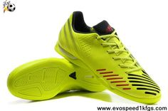 2013 New Electricity-Black-Infrared Adidas Predator LZ TRX IC Soccer Boots Shop