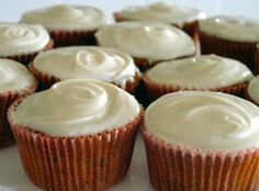 Lick The Bowl Good: Cream Cheese Capped Carrot Cupcakes