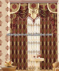 2013 mode de luxe rideau cantonnière-Rideaux-Id du produit ...