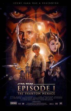 Star Wars Episode I Phantom Menace Cast Art Movie Poster 11x17