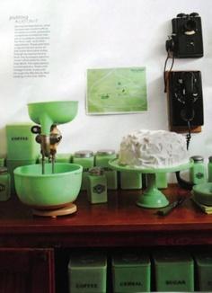 Jadite kitchenware