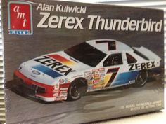 AMT ERTL Alan Kulwicki Zerex Thunderbird #7 NASCAR 1/25th Model Kit 1990 Rlse #AMTERTL
