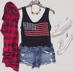 "Find and save images from the ""look"" collection by Abril Amaya on We Heart It, your everyday app to get lost in what you love. White Converse Style, Overall Shorts, Overalls, Tank Tops, Blouse, Outfits, Clothes, Collection, Lazy"