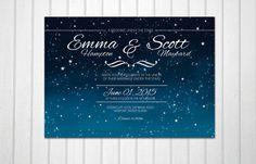 Wedding under the stars romantic night sky dark by BadEnglishCat, $15.00