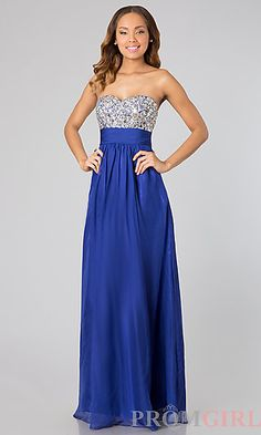 Beautiful royal blue prom dress #prom2014