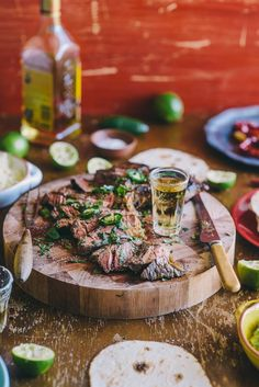 Tequila & Lime Marinated Steak..... This sounds intriguing