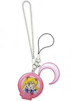 Sailor Moon Phone Charm - Sailor Moon and Crescent Moon Symbol