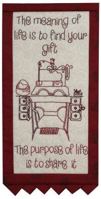 Thoughts Of The Month - Month 4 - Stitchery Pattern - Click Image to Close