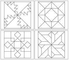 Geometric Art Patterns (Set include 28 geometric patterns that your children will love to color. A great addition to your Montessori art materials. Barn Quilt Designs, Barn Quilt Patterns, Quilting Designs, Block Patterns, Geometric Artwork, Geometric Patterns, Geometric Designs, Montessori Art, Montessori Elementary