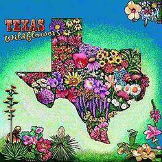 Texas Wildflowers Tapestry