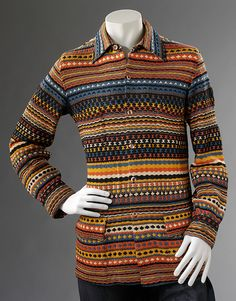 Man's cardigan, Missoni, 1974.