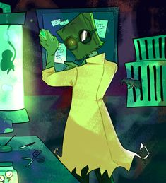 People forget that Dr. Flug is evil and has the capacity to be absolutely terrifying Dr Flug, Hat Organization, Villainous Cartoon, Memes, Adult Cartoons, Cartoon Games, Art Series, Spirit Animal, Cartoon Network