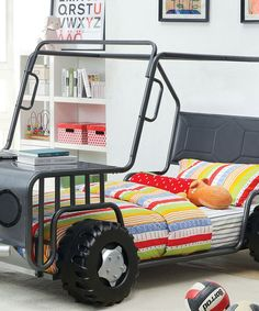 Another great find on #zulily! Metallic Gray Jeep Bed #zulilyfinds