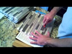 Precision Construction - Easy Way to Tile using Simple Mat - Without Using mortar or mastic - YouTube
