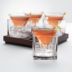 Cubist Martini Set. I love these glasses. Like, I'm literally in love with this whole idea.