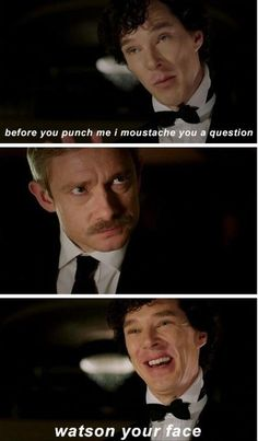 "This boomerang pun. | 33 ""Sherlock"" Puns That Will Tickle Your Punny Bone. He'd get punched so hard..."