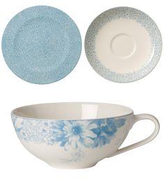Villeroy & Boch - 'Floreana' Collection, Blue, Porcelain - Teacup