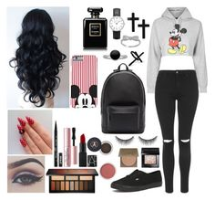 """""""mickey♥♥"""" by sweetenchantments ❤ liked on Polyvore featuring shu uemura, Topshop, PB 0110, Bellezza, tarte, Too Faced Cosmetics, Bare Escentuals, Bobbi Brown Cosmetics, Kat Von D and Chanel"""