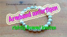 Armband auf Gummi fädeln und richtig knoten - Schmuck selber machen