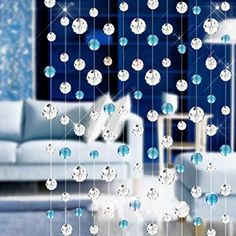 Outdoor Curtains - 1 M Fashion Luxury K9 Crystal Raindrops Transparent Bead Curtain Maxdee Ambilight Crystal Beaded Crystal Beaded for Curtain DIY Closet Doors Doorway Windows  Home Party Wedding Christmas Decoration * Click image for more details. (This is an Amazon affiliate link)