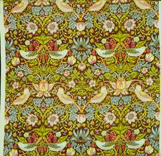 MoMA | The Collection | William Morris. Strawberry Thief Pattern Printed Fabric (no. 23598). 1883