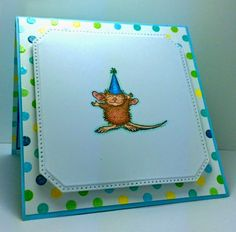 www.CardsbyAmerica.blogspot.com/, America, House Mouse, Birthday, Pop-Up, Birthday card, HMFMC, House Mouse and Friends Monday Challenge