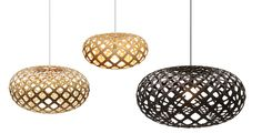 KINA - Pendant lamp / contemporary / bamboo / plywood by David Trubridge Design Round Pendant Light, Glass Pendant Light, Glass Pendants, Pendant Lamp, Pendant Lights, Kitchen Pendant Lighting, Sconce Lighting, Bamboo Plywood, Bamboo Light