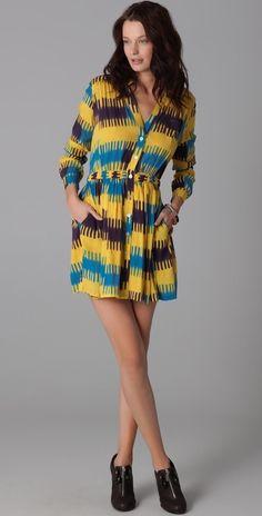 Thakoon Addition Gathered Waist Shirtdress thestylecure.com