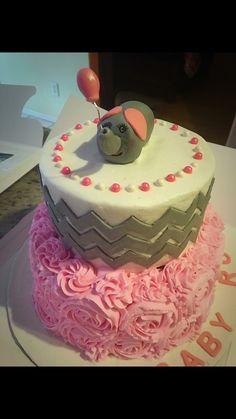 It's a girl baby shower cake elephant theme