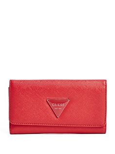 GUESS Womens Abree Slim Wallet