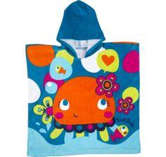 Tuc Tuc Jellyfish - Poncho para niña / Girls hooded beach towel  www.kidsandchic.com/girls-hooded-beach-towel-tuc-tuc-jellyfish.html  #beach #summer #kids #kidsfashion #trendychildren #verano #playa #niñas #modainfantil #ropainfantil