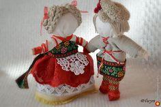 неразлучники - текстильные и тканые изделия, народная кукла. МегаГрад - мега-портал авторской ручной работы
