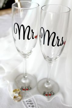 Bride and groom, toasting flute, custom toast glass, personalized wedding toast flute, mr and mrs glass, personalized, champagne glasses