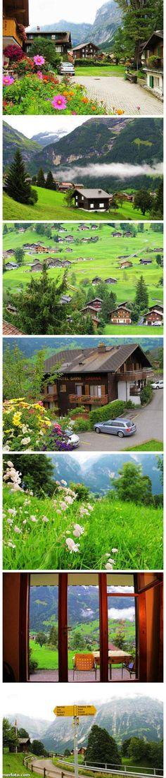 Small town, Grindelwald, Switzerland