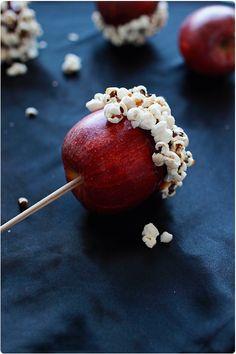 Pommes d'amour aux pop corn
