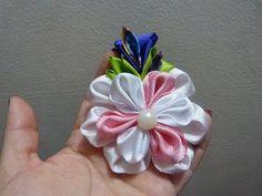 Paso a paso de flores en cinta para moños del cabello video 208 - YouTube