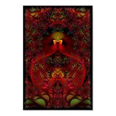 Wonderland Symetrical Fractal Art Poster