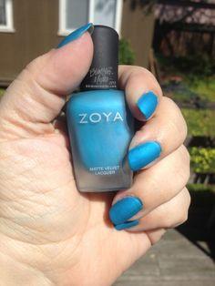 "Zoya Matte Velvet ""Phoebe"" Manicure #manicures #nails - TrishaLyn.com"