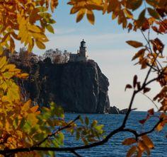 Split Rock Lighthouse in Minnesota: Autumn View