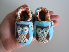 Soft and Cute Owl Baby Shoes