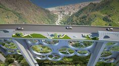 Italian Designers Transform Old Viaduct into Futuristic Wind Turbine Bridge