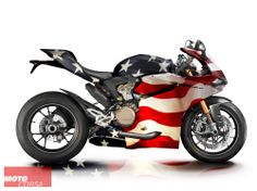 We made this Stars & Stripes edition of the Ducati 1199 Panigale to remind you to get your vote in today!