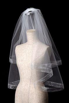 日本製 オーガンジー・パイピングベール Veil, Wedding Dresses, Fashion, Bride Dresses, Moda, Bridal Gowns, Alon Livne Wedding Dresses, Fashion Styles, Veils