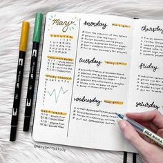 Neat and clean Bullet Journal office work weekly layout #bujo #bulletjournal #bujojunkies #bujolove #bujoideas #bujoinspiration #bulletjournalideas #journaling #journal #planning #plannergirl #planner