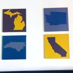 DIY Art - States I've lived in!