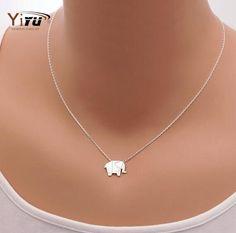 2017 New Fashion Necklaces Origami Elephant Geometric Origami Necklace Woodland Elephant Animal Jewelry Mother's Day Gift N192 * Detalles sobre el producto se puede ver haciendo clic en la VISITA botón
