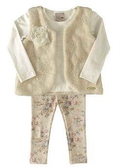 Conjunto de Blusa, colete e legging  2839