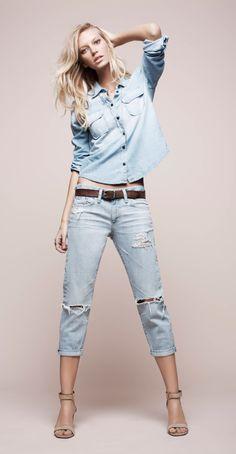 Denim Devotion #agjeans #canadiantux @A g Jeans #distresseddenim