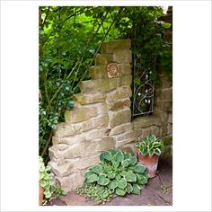Beautiful Stone wall feature in the garden